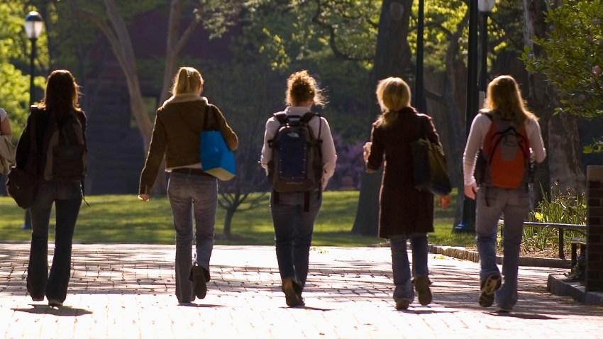 Students Walking at the University of Pennsylvania