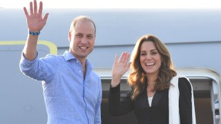 In this Oct. 18, 2019, file photo, Prince William, Duke of Cambridge and Catherine, Duchess of Cambridge depart Islamabad during day five of their royal tour of Pakistan.