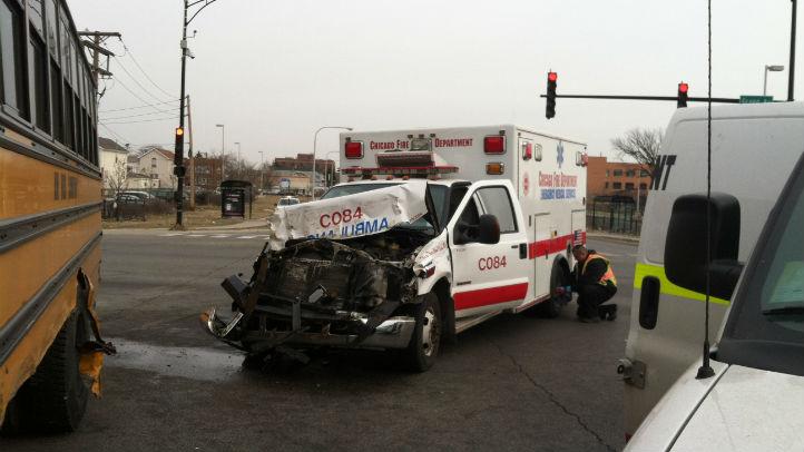 ambulance crash bus