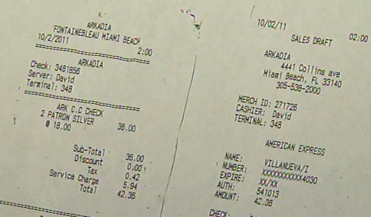 arkadia receipts