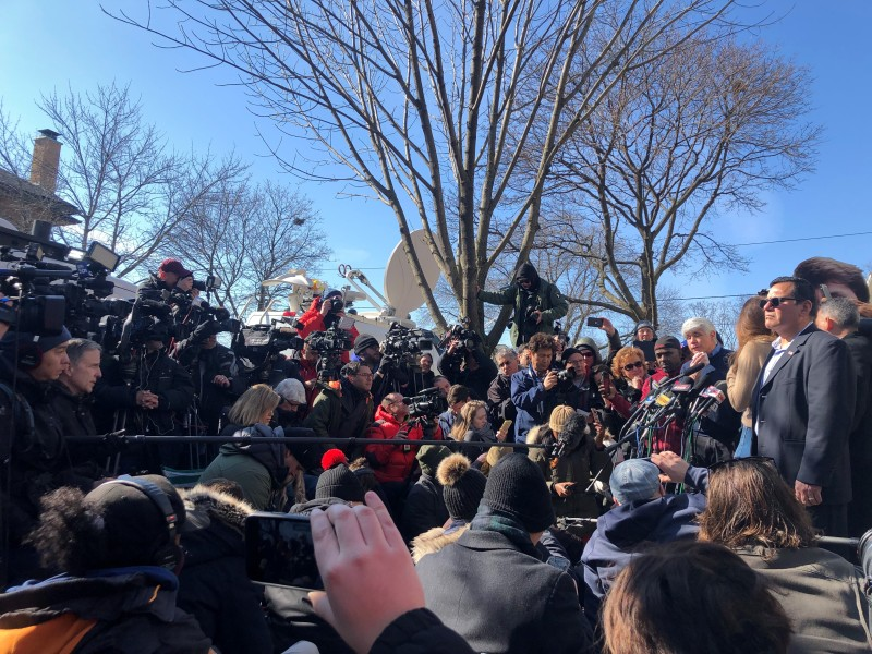 Signs, Cameras, Crowds: The Scene Outside Blagojevich's Home Day After His Release