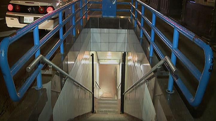 blue line subway entrance