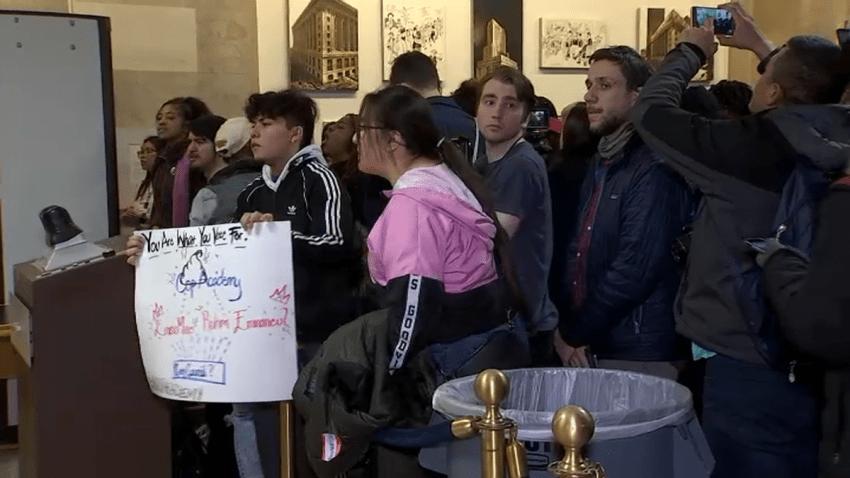 cop academy protest