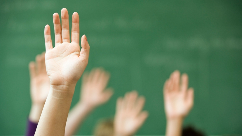 education+stock+diversity+school+students+classroom+raise+hands