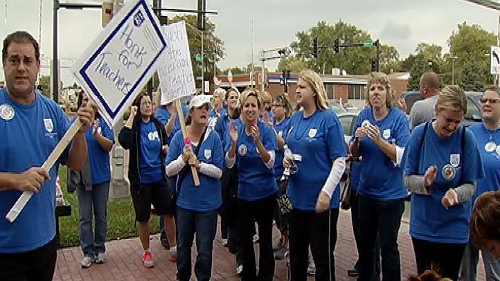 evergreen park teachers strike 1