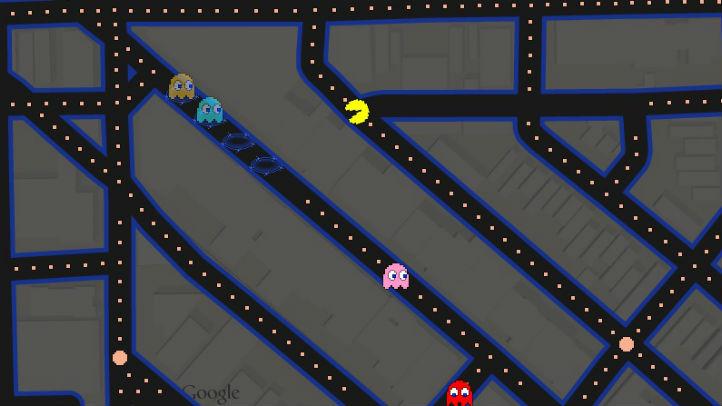 google maps pacman in wicker park