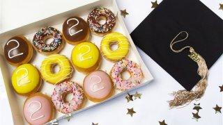 A dozen Krispy Kreme doughnuts