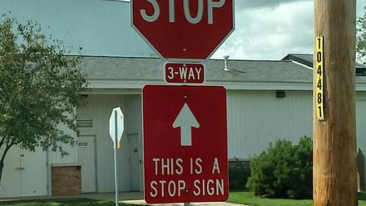 hanover park stop sign