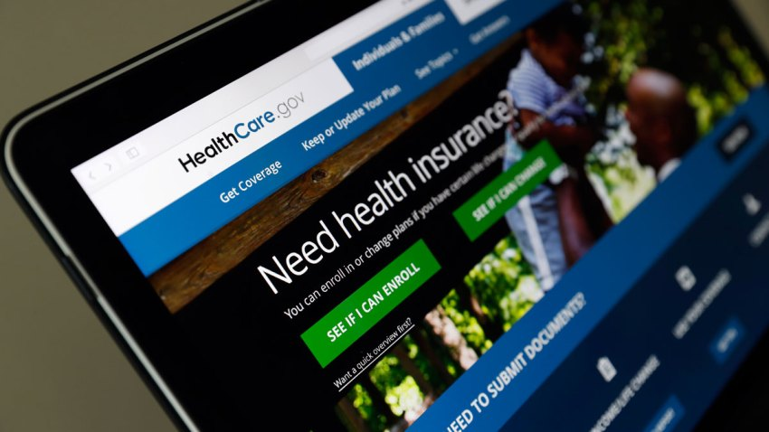 In this May 18, 2017 file photo, the Healthcare.gov website is seen on a laptop computer, in Washington.