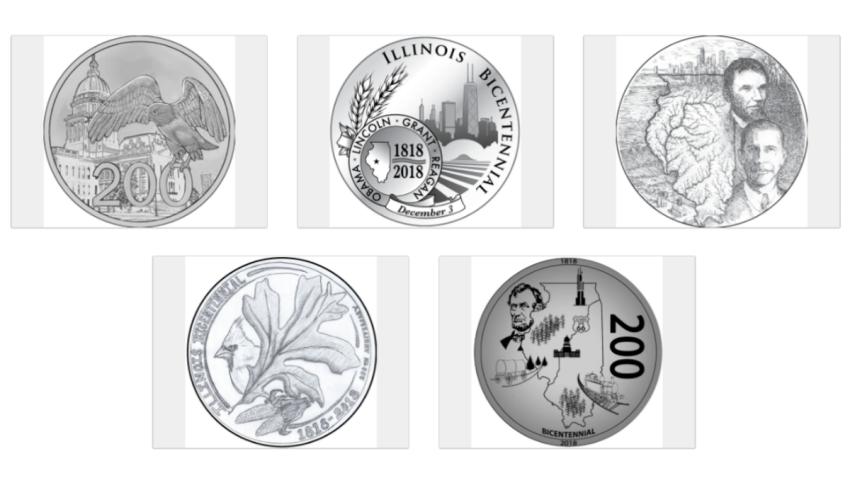 illinois bicentennial coin designs