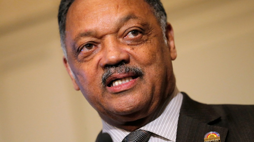 Reverend Jesse Jackson speaks at an event in New York City on January 21st.