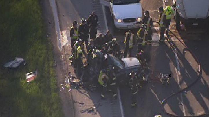 kennedy car semi crash