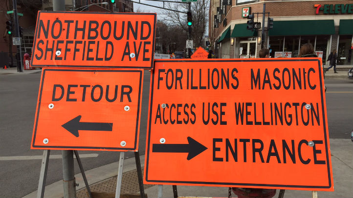 mispelled construction signs diversey
