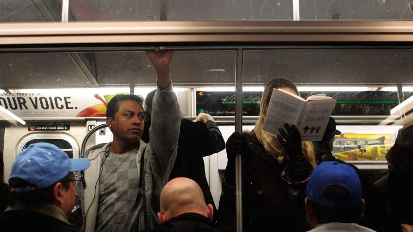 mta crowded subway train