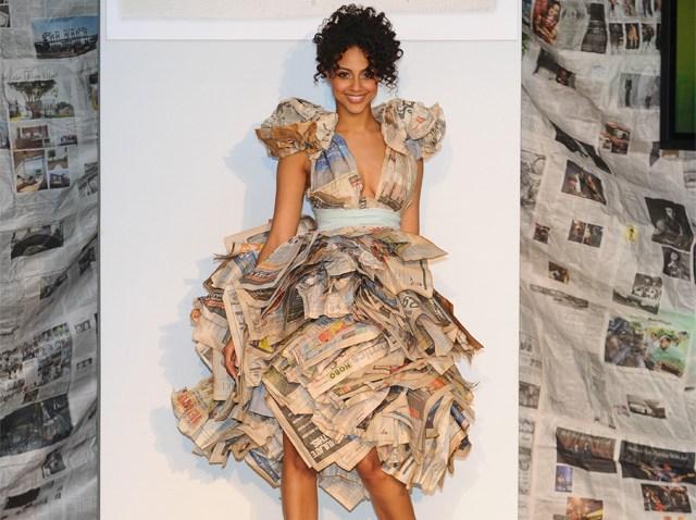 Lara Miller newspaper-dress