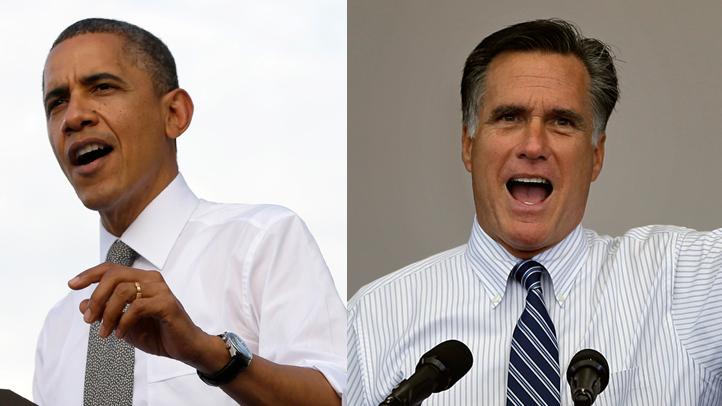 obama-romney campaigning