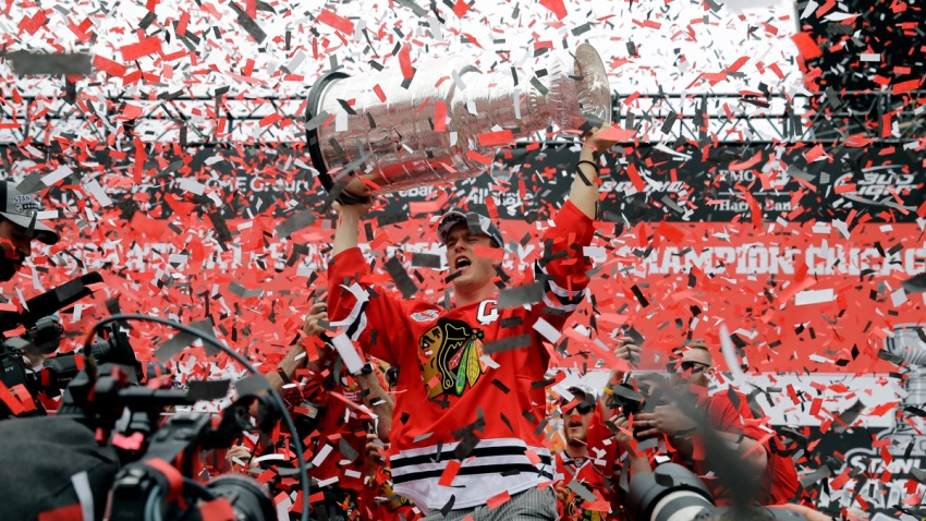 APTOPIX Blackhawks Stanley Cup Parade Hockey