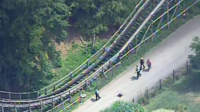 roller coaster idlewild child falls