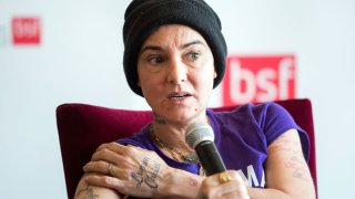 In this April 22, 2015, file photo, Irish singer-songwriter Sinead O'Connor attends a press event during the Budapest Spring Festival at a hotel in Budapest, Hungary.