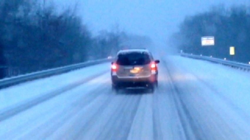 snow driving ac expressway