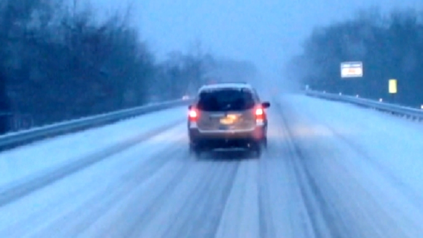 snow driving ac expressway