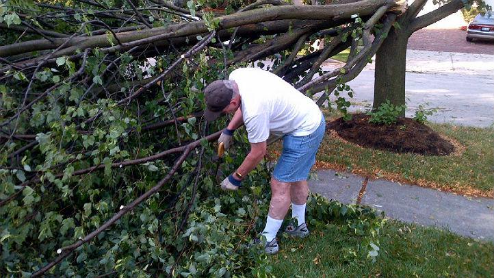 storm cleanup continus bob little