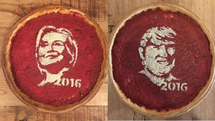 trump clinton pizza