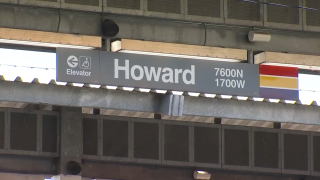 Police investigate a shooting at the CTA Howard station on December 3