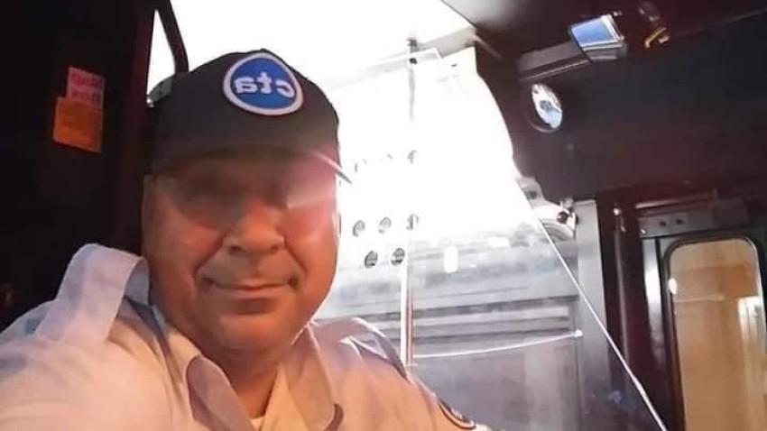 A photo shows CTA bus driver Pedro Gafare, who passed away due to coronavirus complications