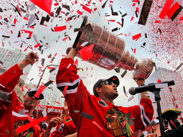 Blackhawks Chicago Celebrate