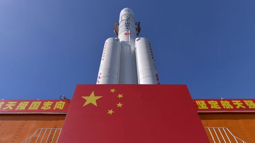 In this photo released by China's Xinhua News Agency, a Long March-5 rocket is seen at the Wenchang Space Launch Center in south China's Hainan Province, Friday, July 17, 2020. China launched its most ambitious Mars mission yet on Thursday, July 23, 2020 in a bold attempt to join the United States in successfully landing a spacecraft on the red planet. The Tianwen-1 was launched on a Long March-5 carrier rocket from a launch site on Hainan Island.