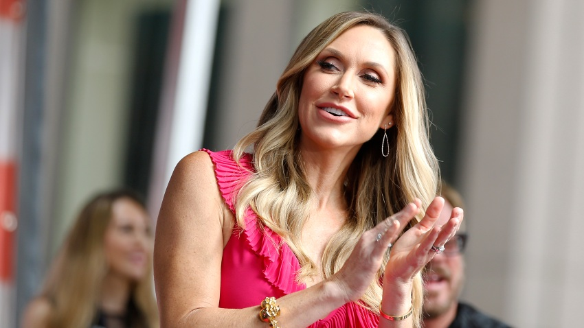 """NEW YORK, NEW YORK - JULY 19: Lara Trump is on stage as Phil Vassar performs on """"FOX & Friends"""" All-American Summer Concert Series on July 19, 2019 in New York City."""