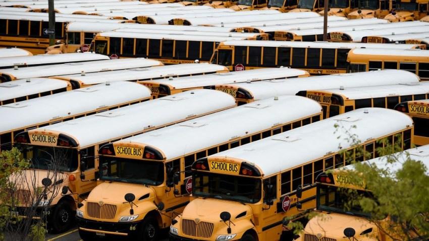 arlington virginia school buses parked