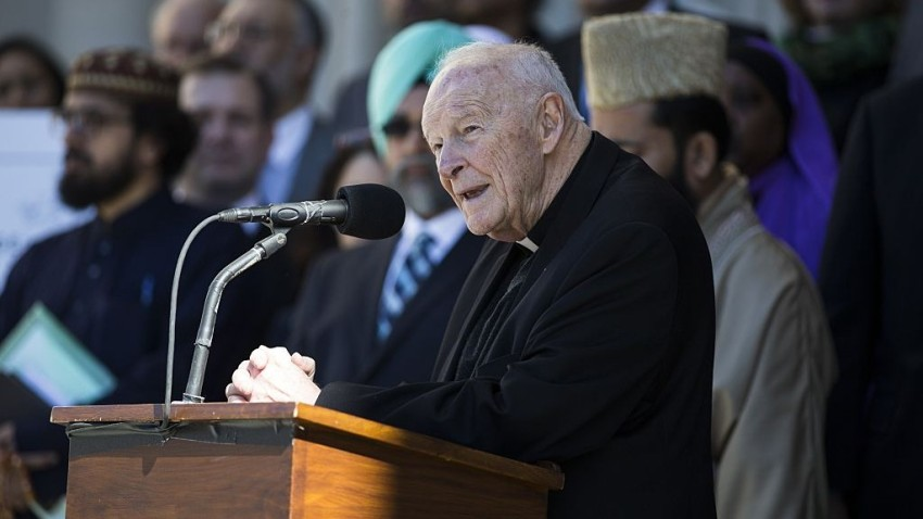 theodore mccarrick speaking to an audience
