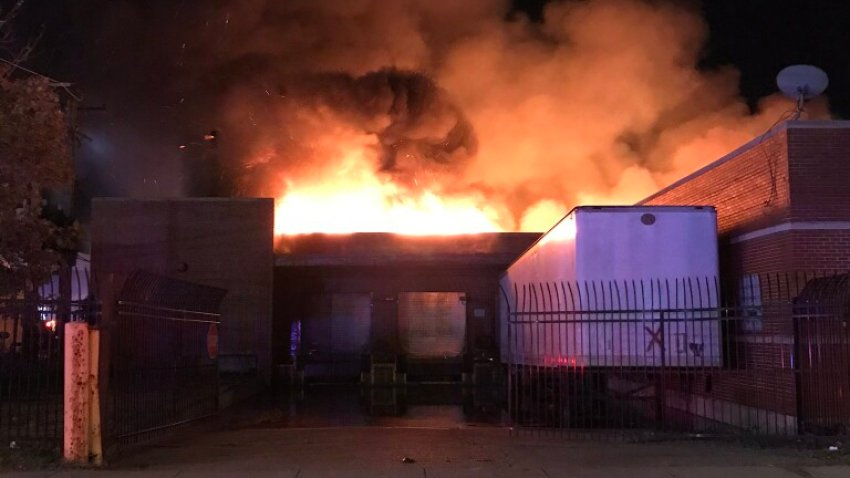 Chicago firefighters battle blaze in Pullman neighborhood on August 30