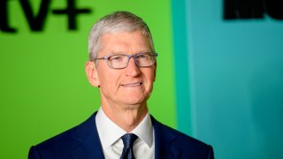 """Apple CEO Tim Cook attends Apple TV+'s """"The Morning Show"""" world premiere at David Geffen Hall on October 28, 2019 in New York City."""