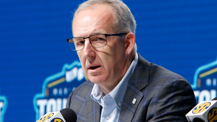 Greg Sankey during a press conference
