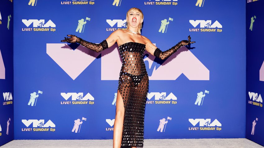 Miley Cyrus attends the 2020 MTV Video Music Awards, broadcast on August 30, 2020, in New York City.
