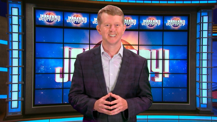 This image released by JEOPARDY! shows Ken Jennings, a 74-time champion the the set of the popular quiz show. Jennings will serve as a consulting producer on season 37, which premieres on Sept. 14.