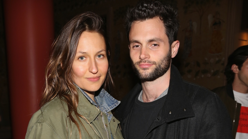 """In this April 30, 2017, file photo, Domino Kirke and Penn Badgley attend The Weinstein Company and Lyft host a special screening of """"3 Generations"""" in New York City."""