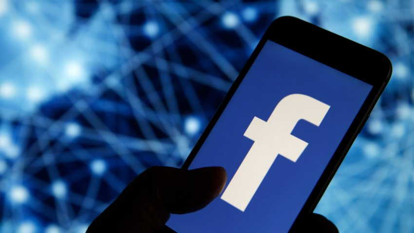 In this Sept. 9, 2019, file photo illustration, the Facebook logo is displayed on the screen of a smartphone in Paris, France.