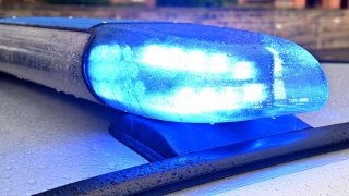 Working police lights