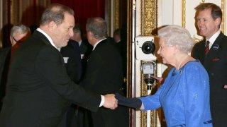Queen Elizabeth II meets Harvey Weinstein