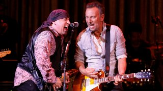 Little Steven and Bruce Springsteen perform onstage