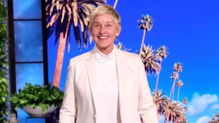"""In this photo released by Warner Bros., a taping of """"The Ellen DeGeneres Show"""" is seen at the Warner Bros. lot in Burbank, California."""