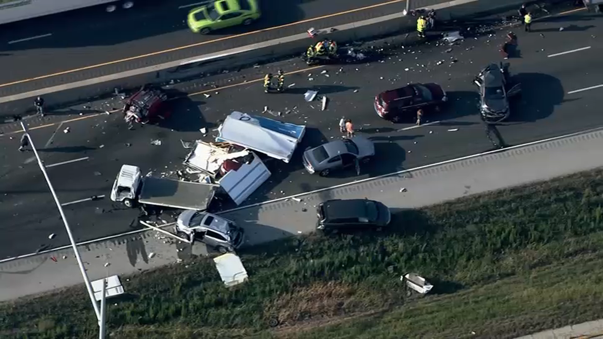 Northbound Lanes of I-55 Closed in Will County Following Nine-Vehicle Crash – NBC Chicago