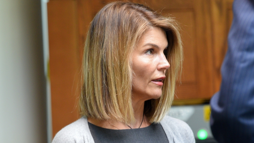 Lori Loughlin at Moakley Federal Courthouse in Boston