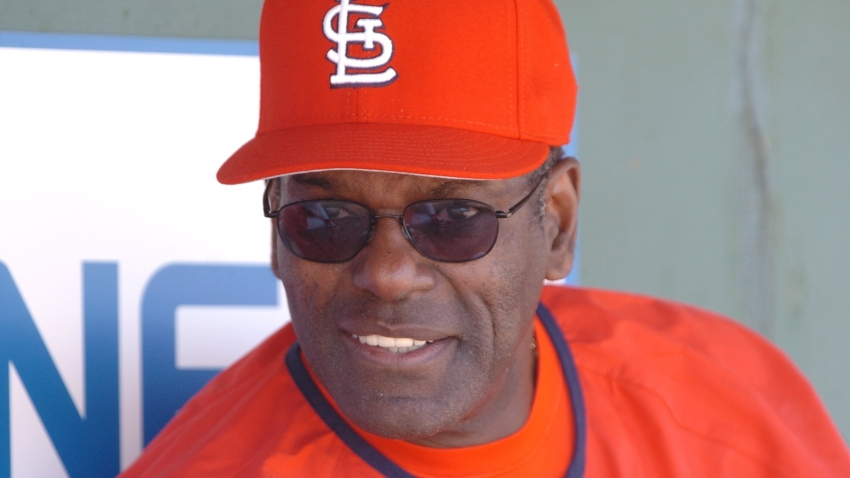 St. Louis Cardinal great Bob Gibson during a Spring training game between the St. Louis Cardinals and the Los Angeles Dodgers won by the Cardinals 6-2 at the Roger Dean Stadium in Jupiter, FL.