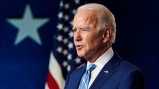 In this Nov. 4 2020, file photo, Joe Biden speaks one day after Americans voted in the U.S. presidential election in Wilmington, Delaware.