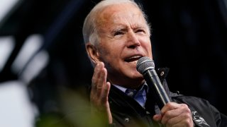 Democratic Presidential Nominee Joe Biden Campaigns In Philadelphia